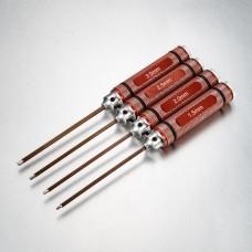 Verktygsats raka sexkants 1,5-2,0-2,5-3,0mm