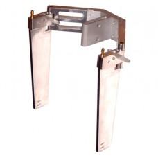 Komplett dubbelroder GR3 bladlängd 150mm