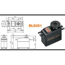 FPBLS351 Futaba Digitalt brushless servo. 15,1kg
